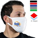 Custom Sporty 2 Layer Mask w/ Elastic Earloops Custom Face Masks