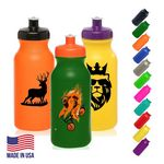 Custom Plastic Water Bottles - 20 oz Sports Bottle w/ Custom Logo