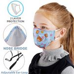 Custom Kids Face Mask w/Full Color Custom Logo 2-Layer Safety Masks