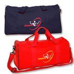 Custom Polyester Travel Duffel Bag w/Front Pocket