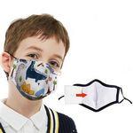 Custom Kids Face Mask w/ Full Color Imprint Cotton Safety Masks