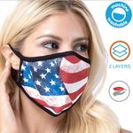 RUSH USA Printed 2 Layer Face Mask w/ Full Color Imprint