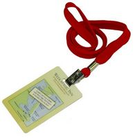 3/8'' Lanyard w/PVC Card