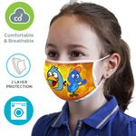 Custom 2 Layer Kids Face Mask w/ Full Color Logo & Elastic Ear-Loop