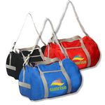 Custom Economy Polyester Duffel Bag w/Large Compartment