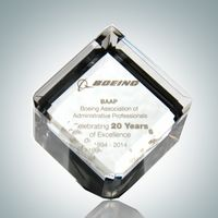 3D Laser Crystal Cube Paperweight Gift Award (1?)