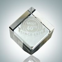 1? Optical Crystal Cube Paperweight