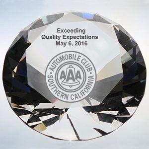 Crystal Diamond Paperweight Award