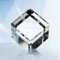 1? Crystal Cube Paperweight Gift