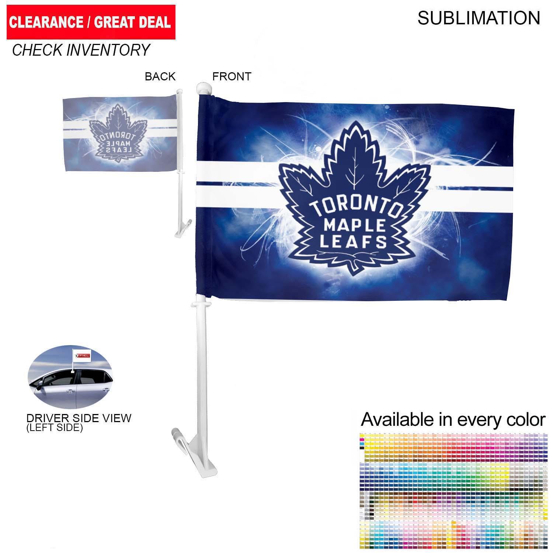 Premium Car Flags, 12x18, Sublimated - Full Colour Imprint (#SU562)