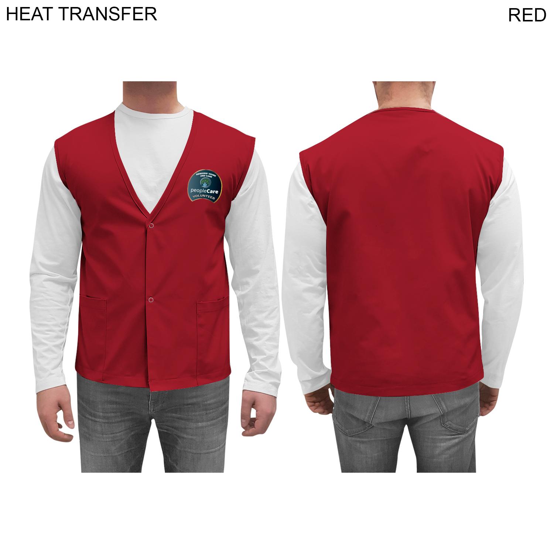 Twill Staff Vest,  HT612, Full Colour Imprint