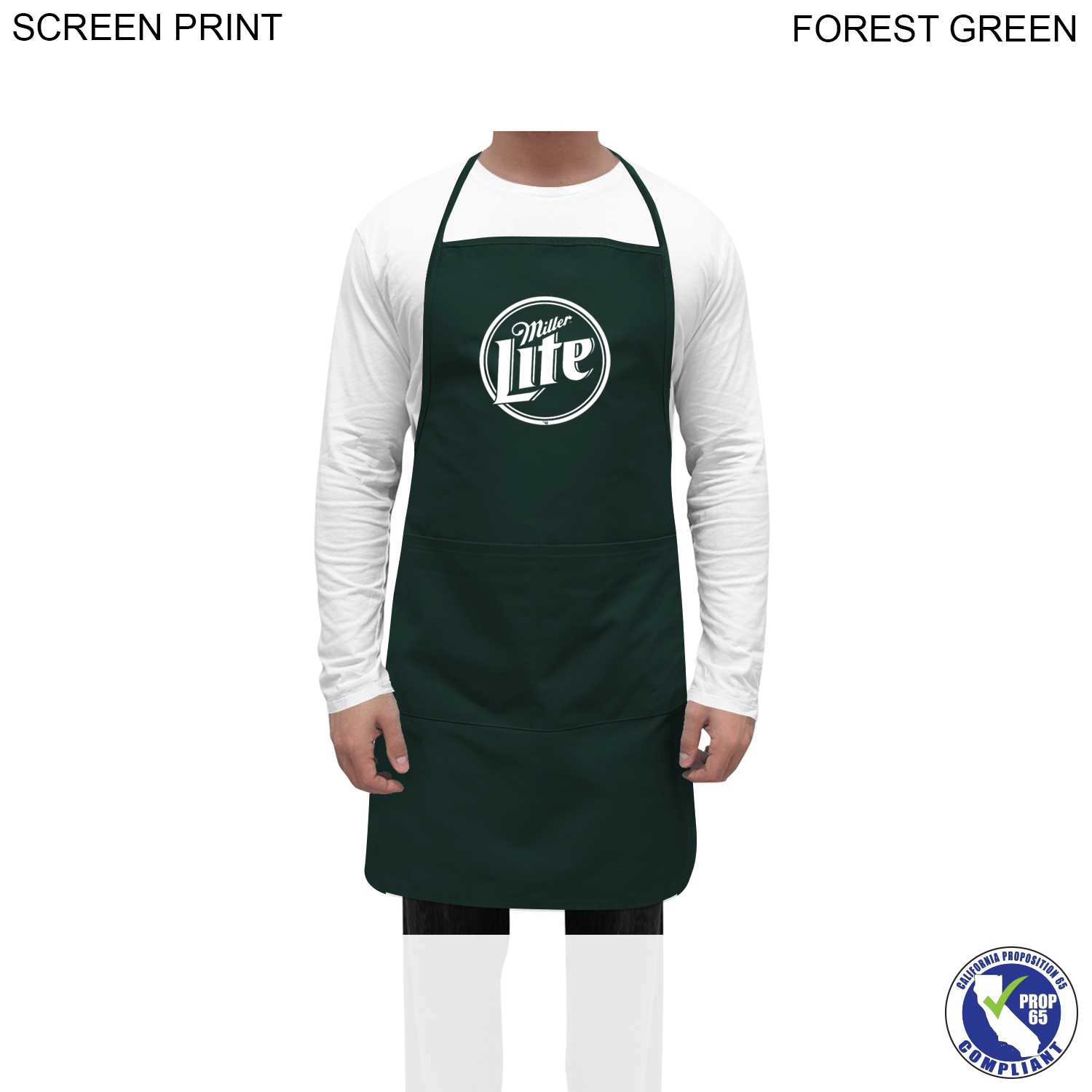 Promo Bib Apron, 2 Pockets, 1 Colour Imprint (#PR316)
