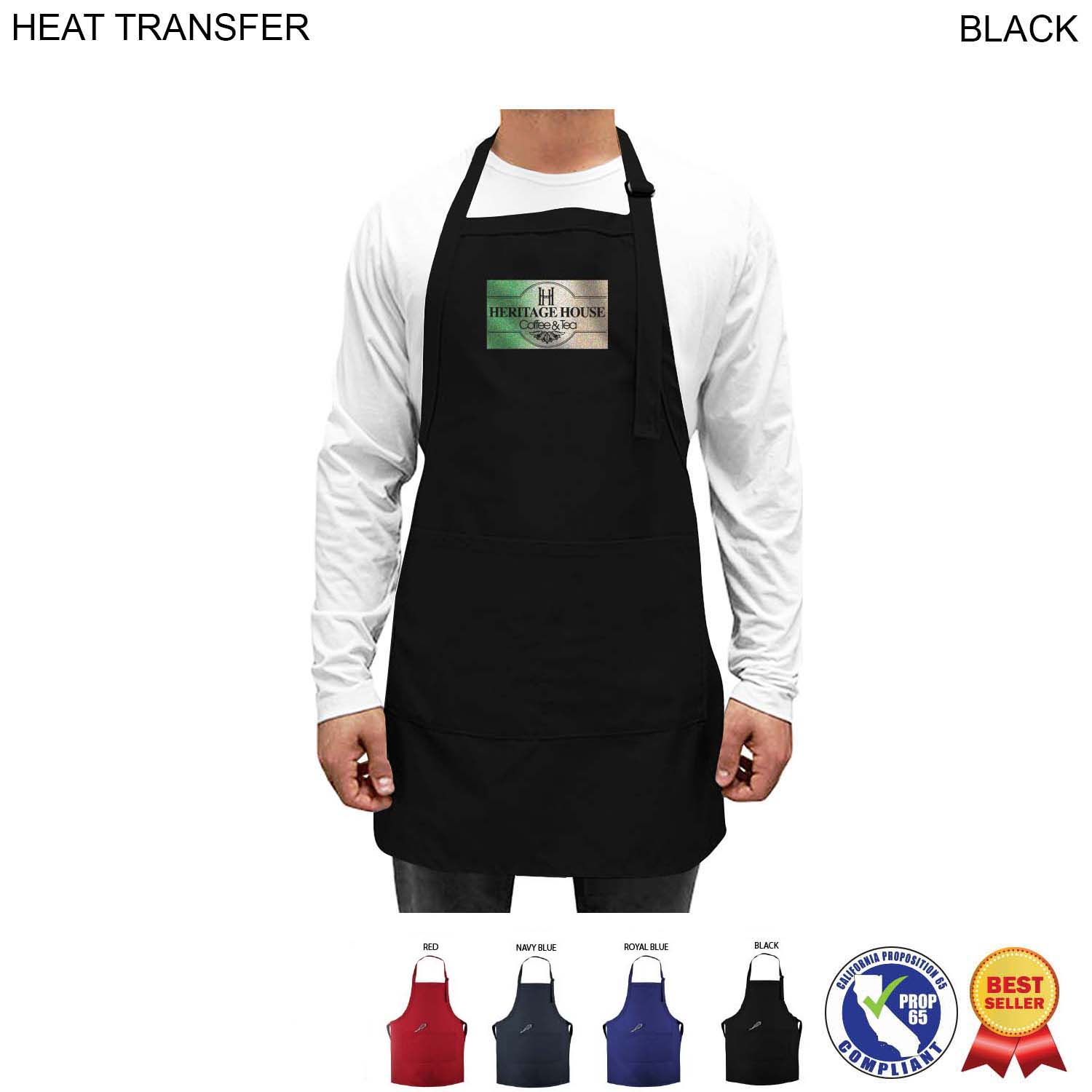 Twill Bib Apron, 2 Pockets, Full Colour Imprint (#HT262)