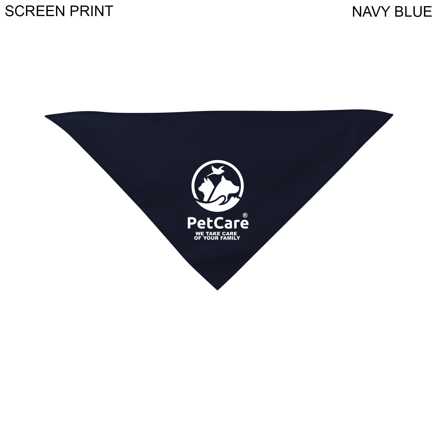 Large Dog Bandana, 22x22x29,  PR625, 1 Colour Imprint