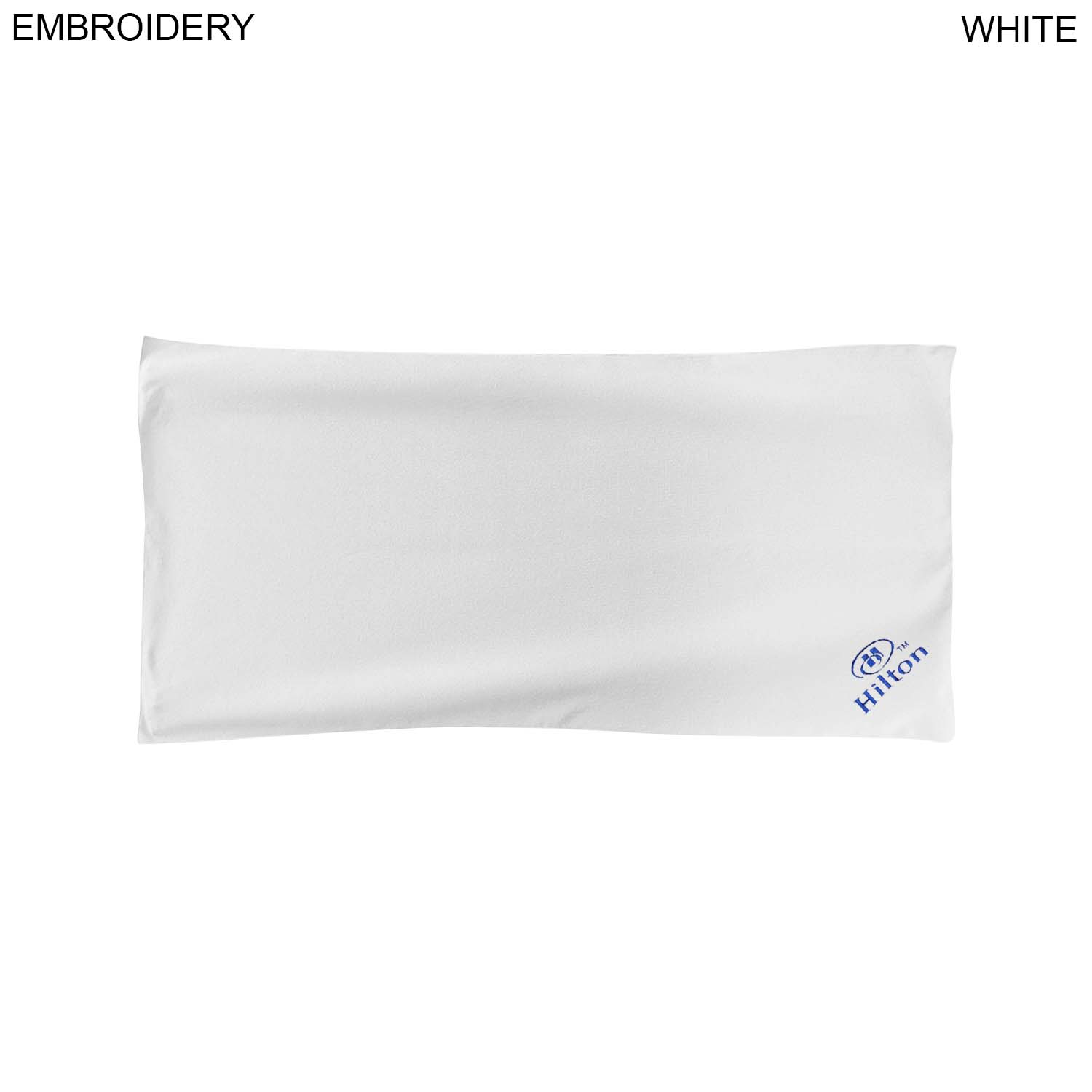 Microfiber Terry Towel, 20x40,  EM462W, Embroidered Logo