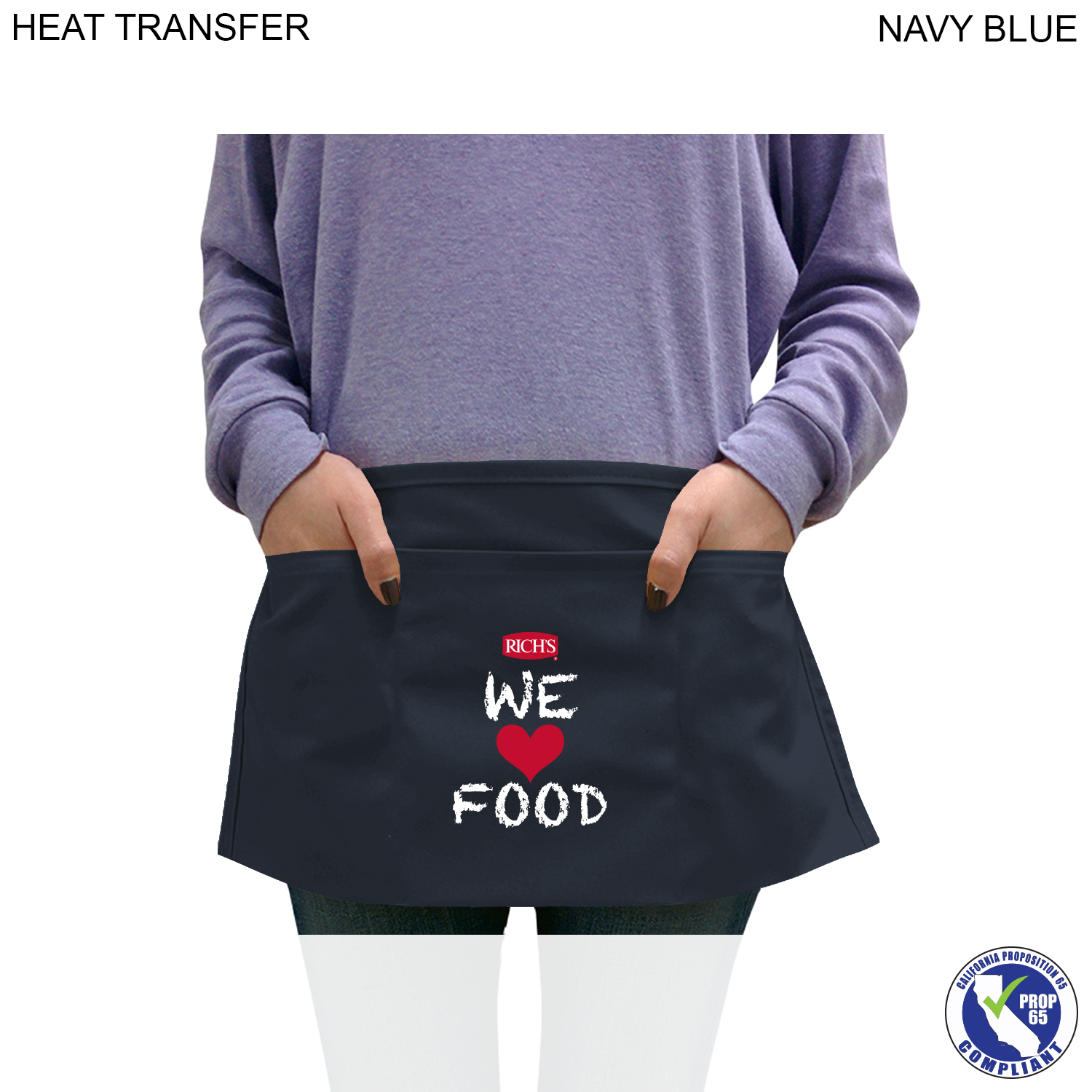 Twill Waist Apron, 3 Pockets, Full Colour Imprint (#HT380)