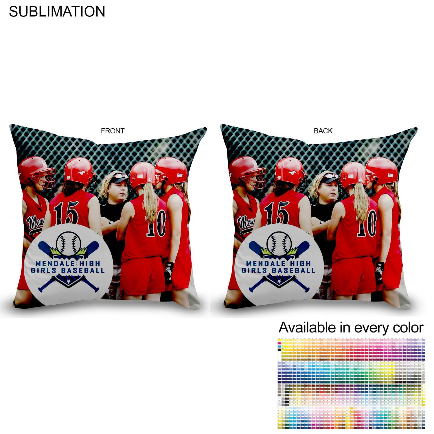 Polyester Large Throw Cushion, 16x16 SU159-2, Full Colour Imprint
