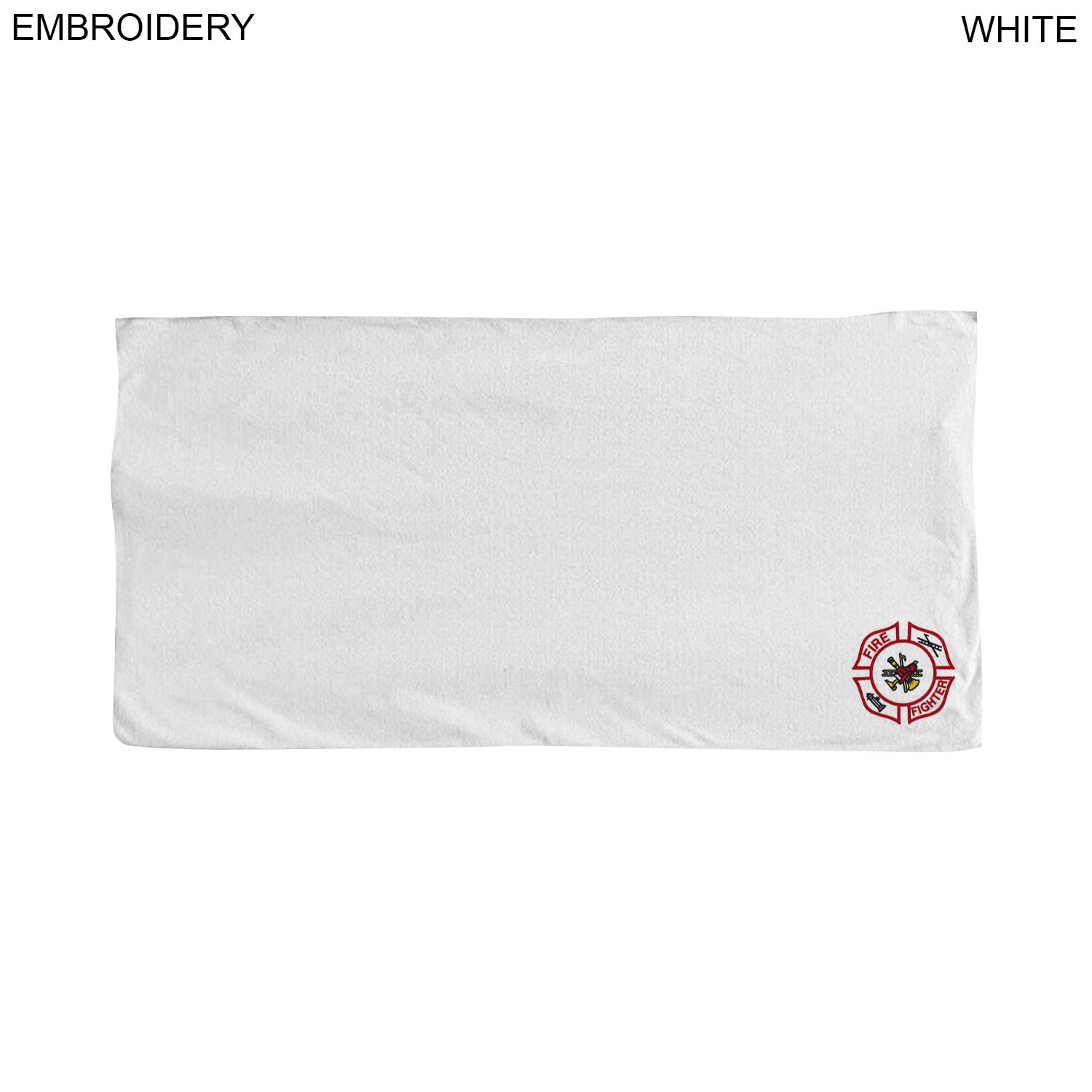 Microfiber Terry Towel, 30x60,  EM210W, Embroidered Logo