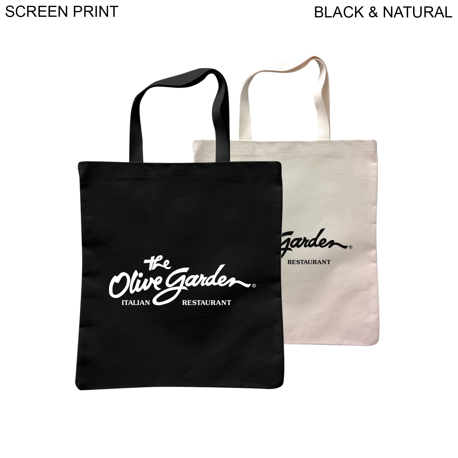 Cotton Flat Tote 15x16.5, 1 Colour Imprint (#PR399)