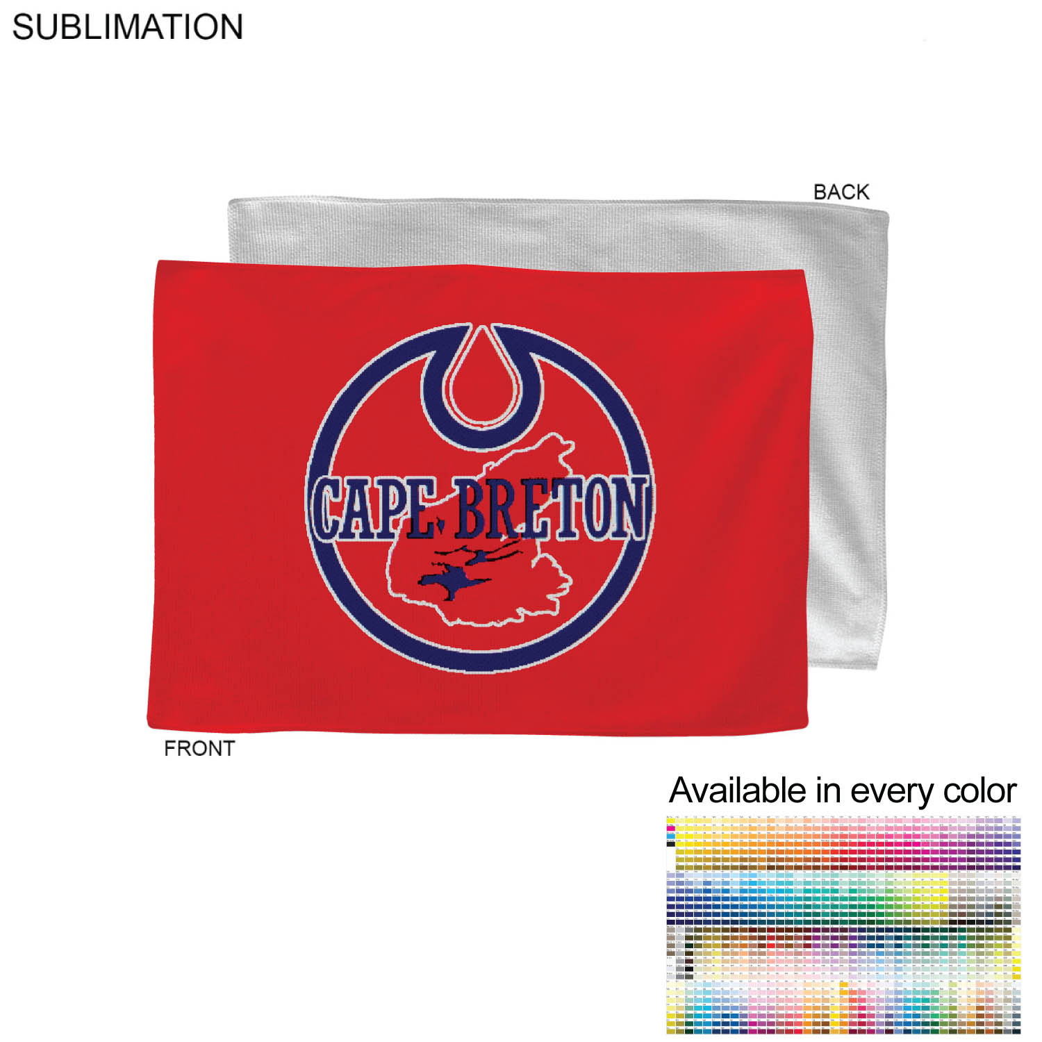 Full Bleed Sublimated Microfiber Rally Towel, 12x18 - Full Colour Imprint (#SU178-4)
