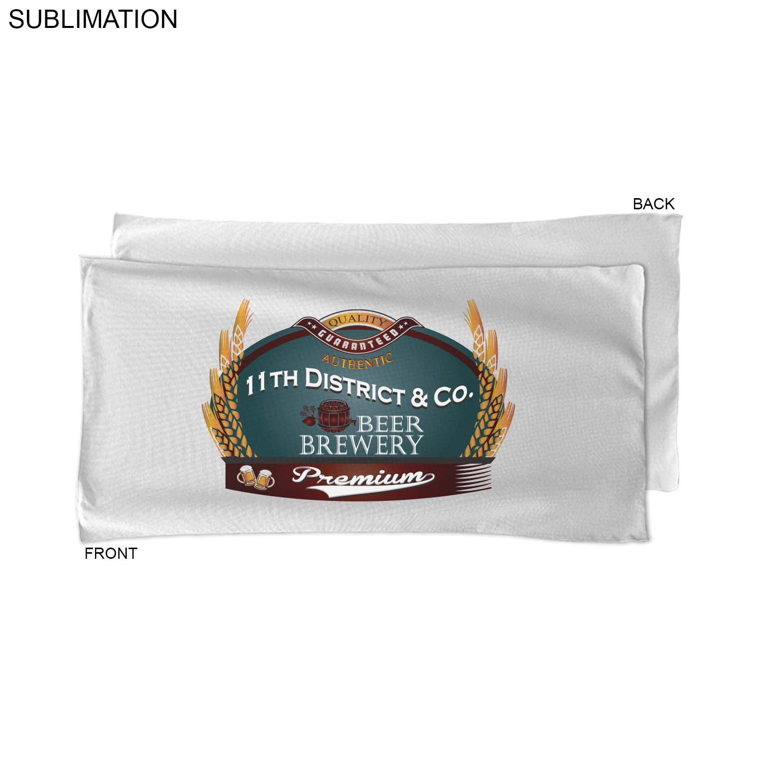 Sublimated Microfiber Terry Beach Towel, 22x44 - Full Colour Imprint (#SU463W-2)