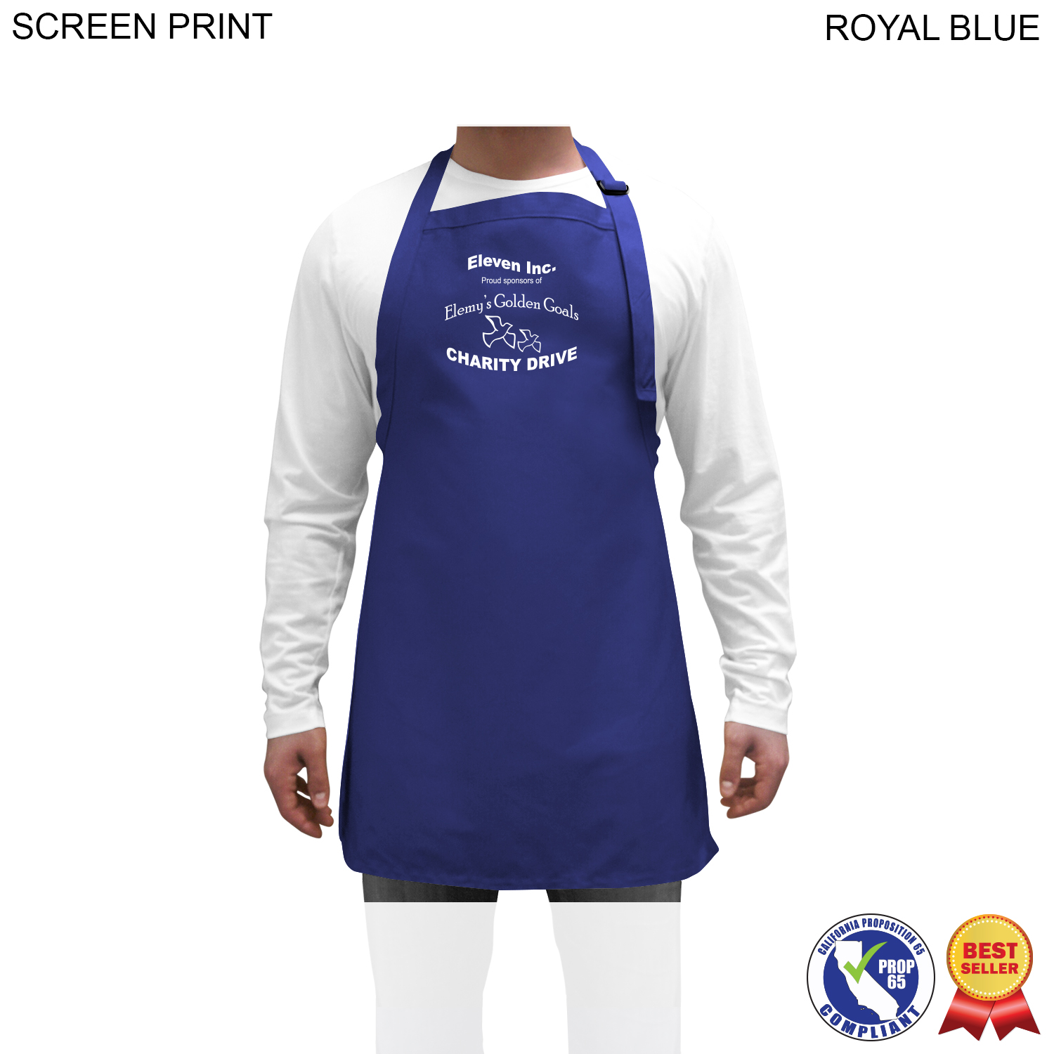 Twill Imported Bib Apron, 25x28,  PR593, 1 Colour Imprint