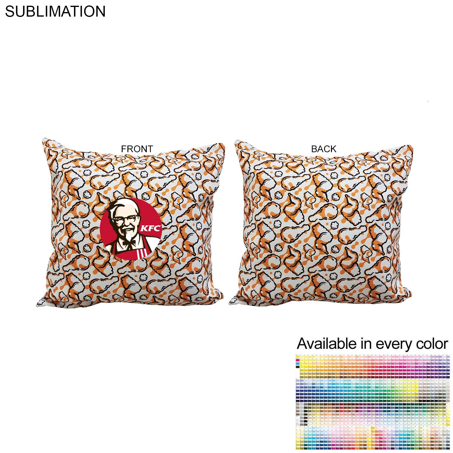 Sublimated Polyester Large Throw Cushion, 18x18 - Full Colour Imprint (#SU570)