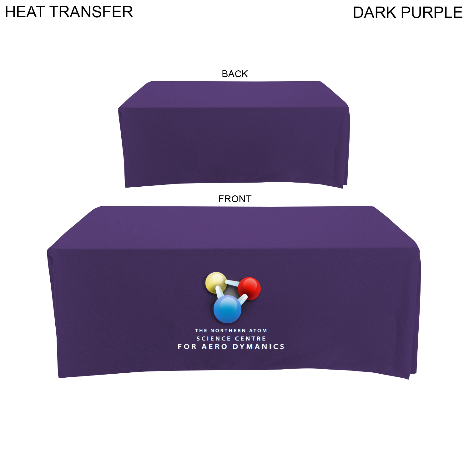 Poplin Table Throw for 6' Table (Closed Back),  HT599, Full Colour Jumbo-Sized Imprint