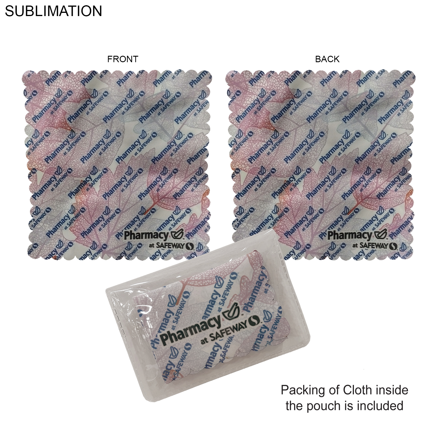 6x6 Cleaning Cloth with Vinyl Pouch SU550-3, Full Colour Imprint