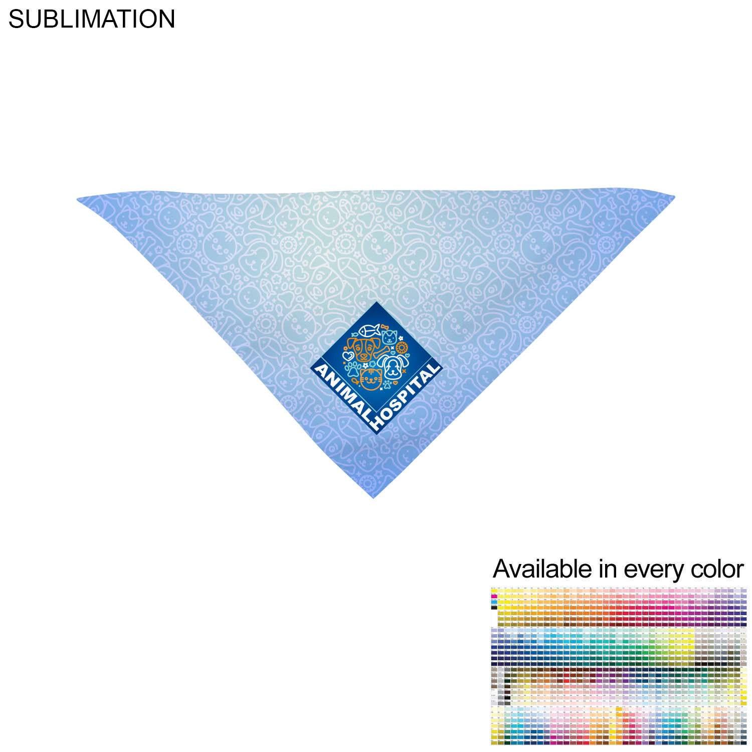 Small Dog Bandana, 14x14x20,  SU624, Full Colour Imprint