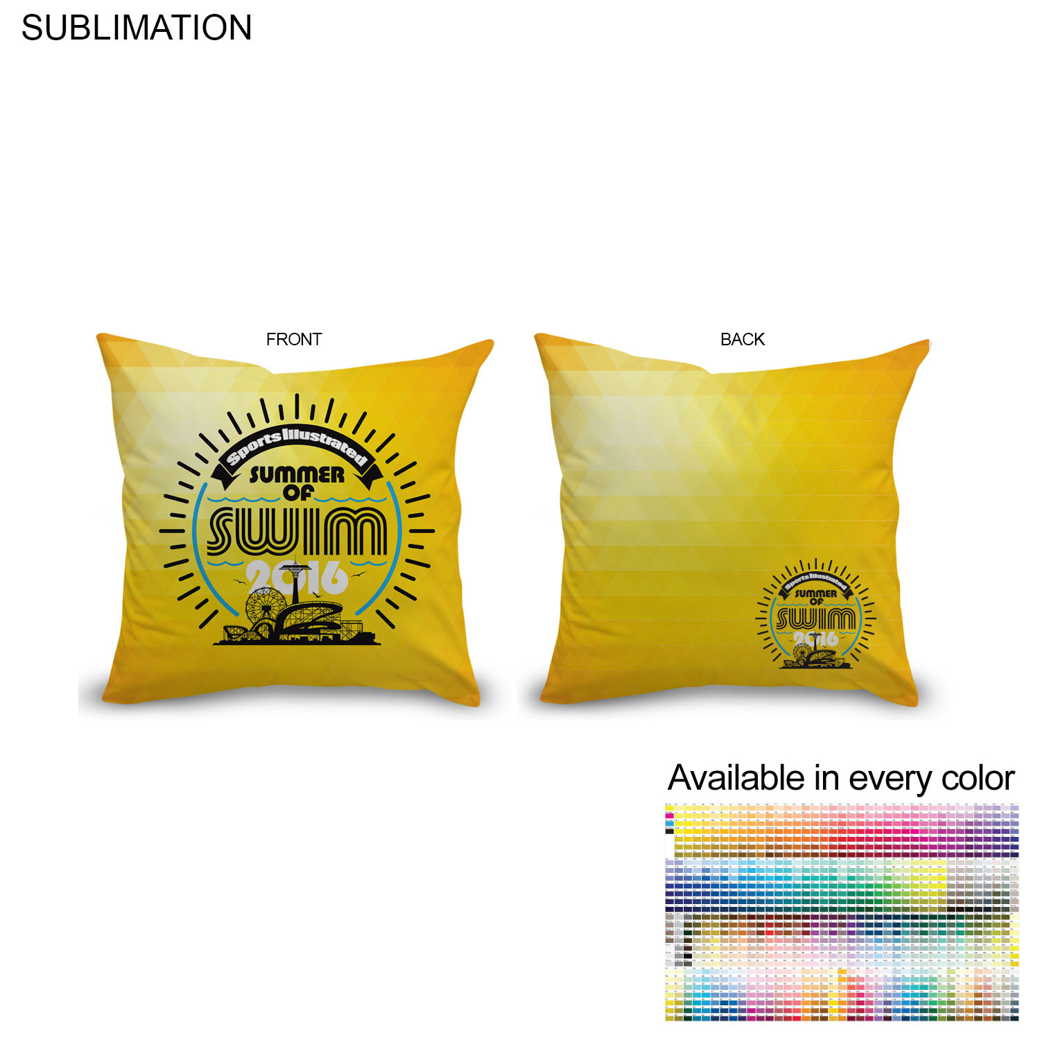 Sublimated Polyester Throw Cushion, 12x12 - Full Colour Imprint (#SU158)