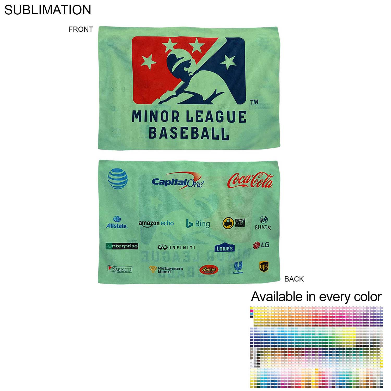 Sublimated Microfiber Sponsorship Rally Towel, 12x18 - Full Colour Imprint (#SU178-3)