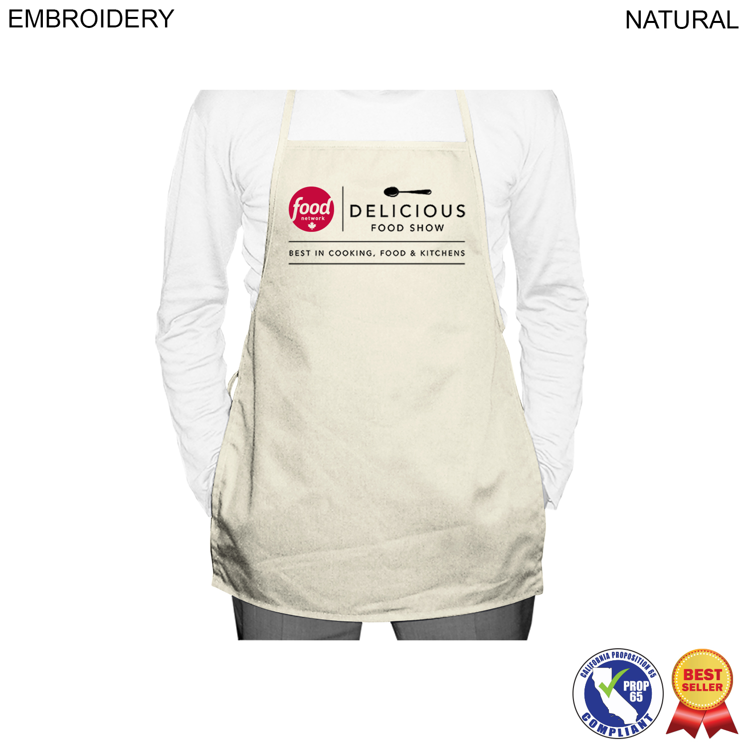 Twill Economy Apron, 19x24, Embroidered (#EM264)
