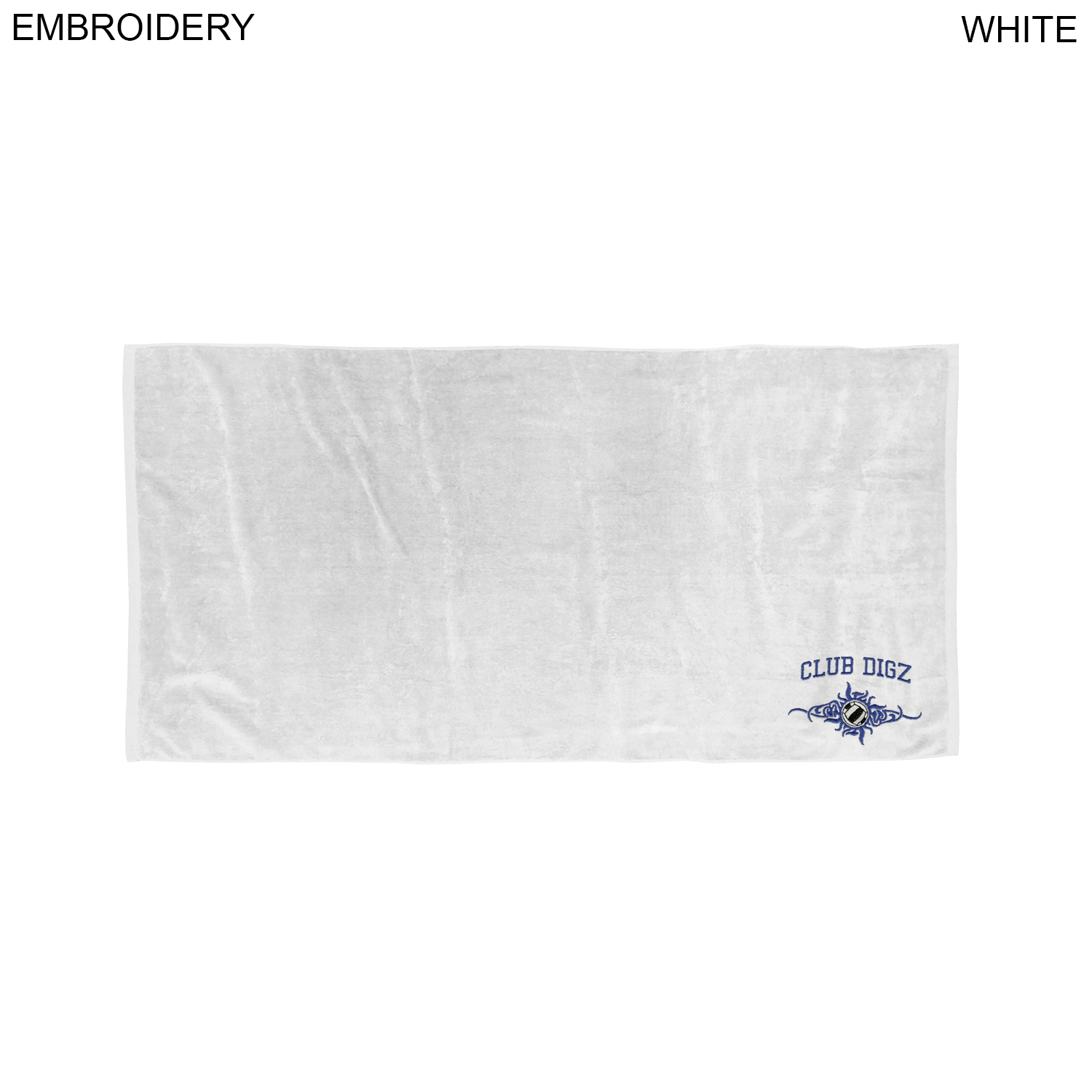 Velour Beach Towel, 30x60,  EM378W, Embroidered Logo