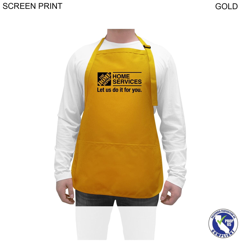 Twill Apron, 3 Pockets, 22x24, 1 Colour Imprint (#PR263)