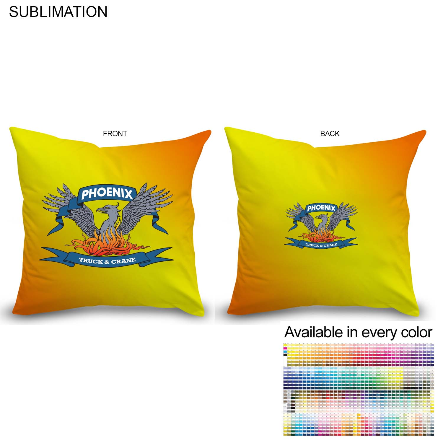 Sublimated Polyester Large Throw Cushion, 16x16 - Full Colour Imprint (#SU159)