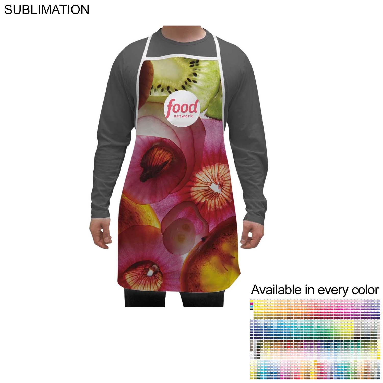 Sublimated Polyester Bib Apron, 28x31 - Full Colour Imprint (#SU175)