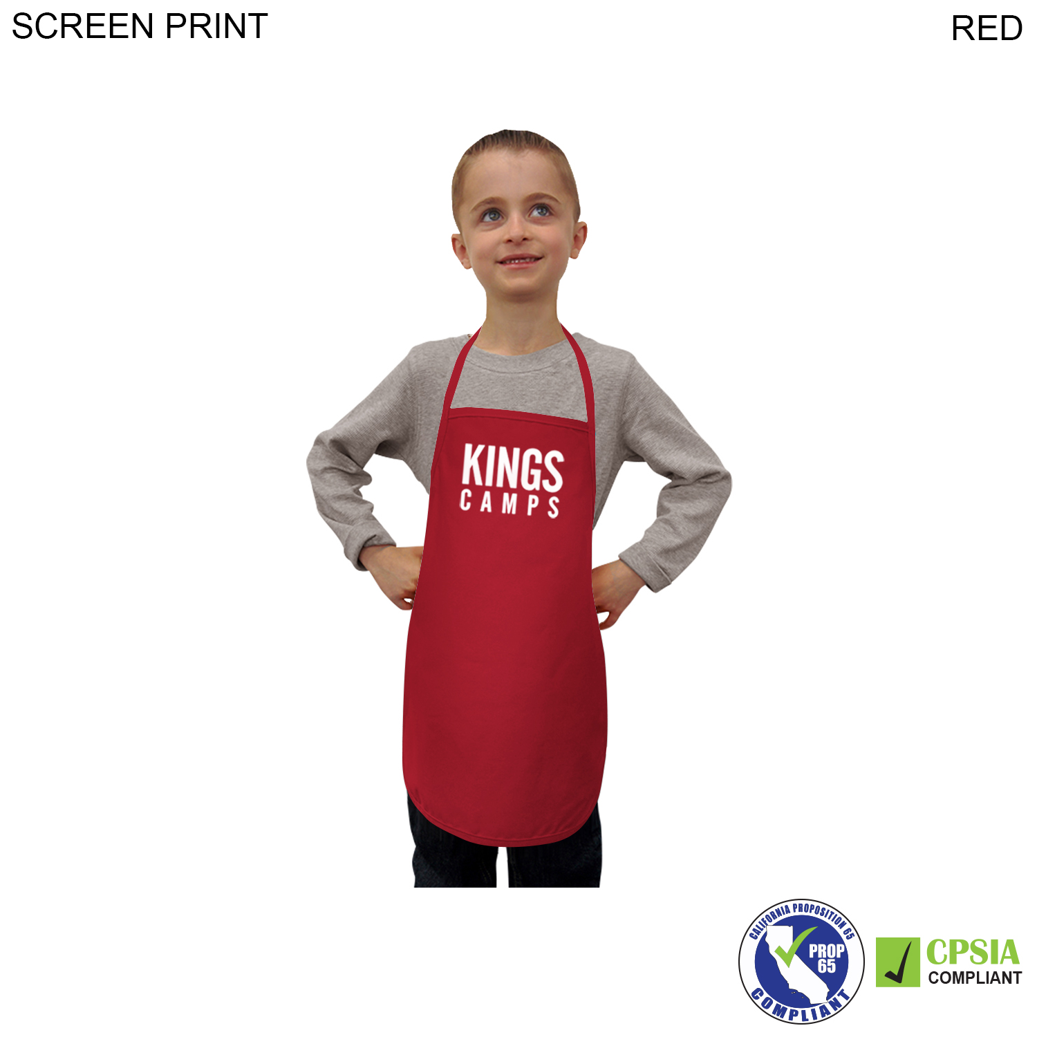 Kids Twill Bib Apron, 4 to 9 Years,  PR328, 1 Colour Imprint