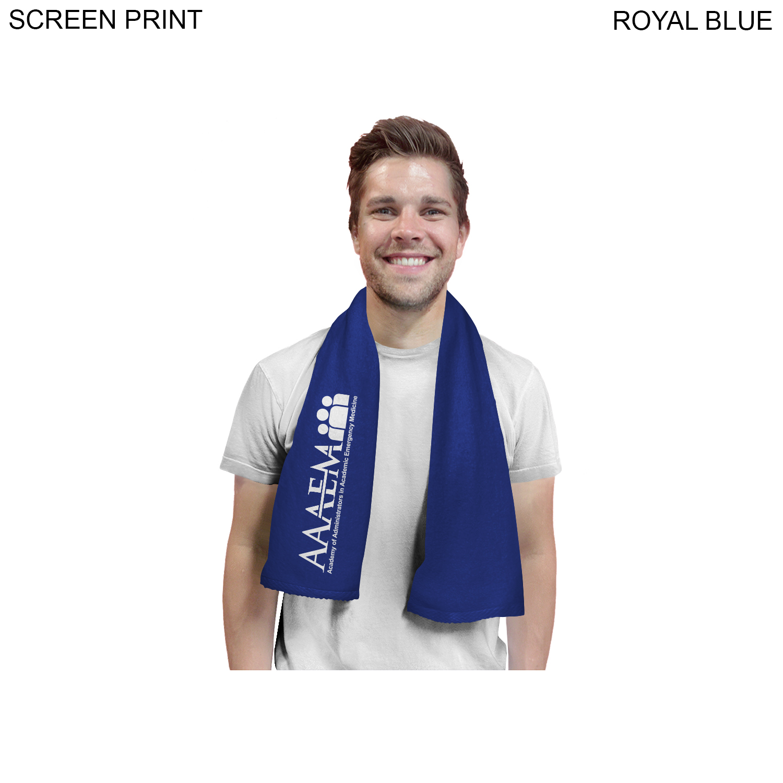 Velour Sports Towel, 11x44, 1 Colour Imprint (#PR547)
