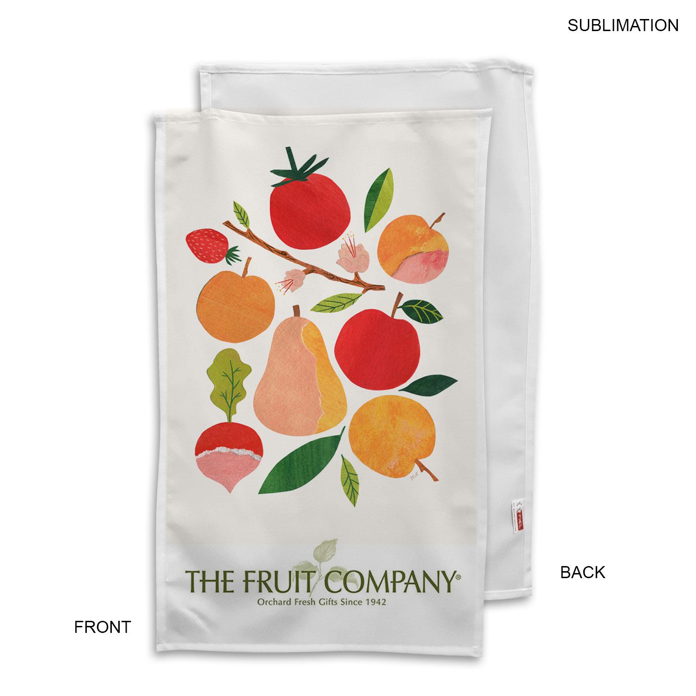 Polyester Tea Towel, 17X30, Sublimated - Full Colour Imprint (#SU186)