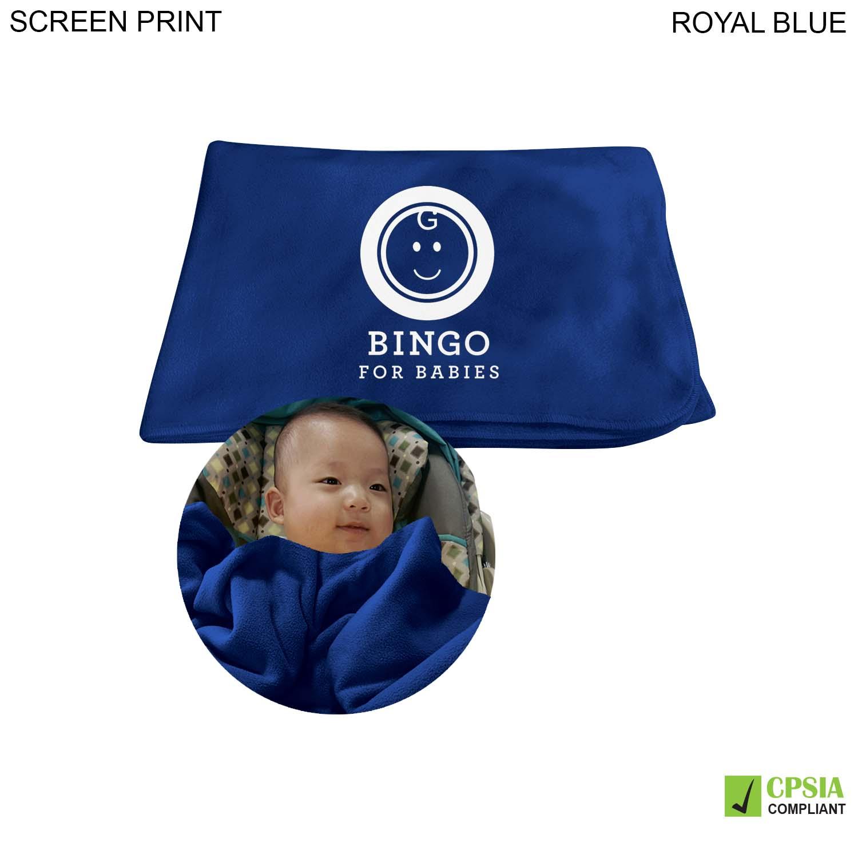 Fleece Baby Blanket 28x42, 1 Colour Imprint (#PR200)