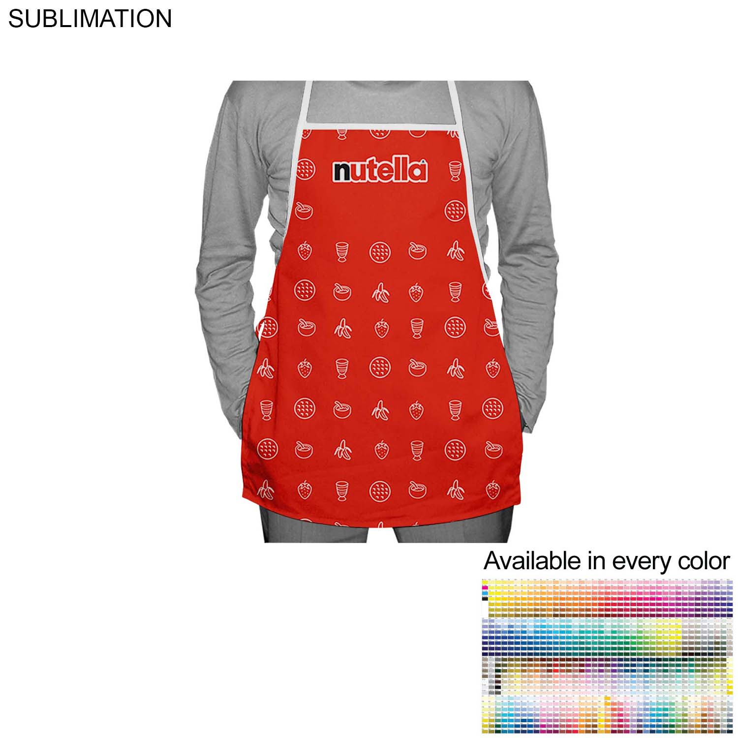 Polyester Bib Apron, 19x24 SU264, Full Colour Imprint