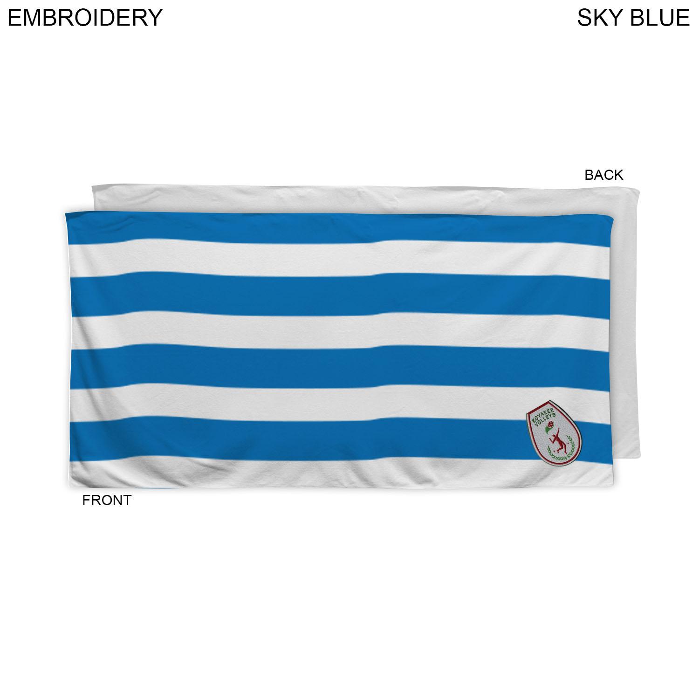 Cabana Stripe Beach Towel, 30x60, EM586-2, Embroidered Logo