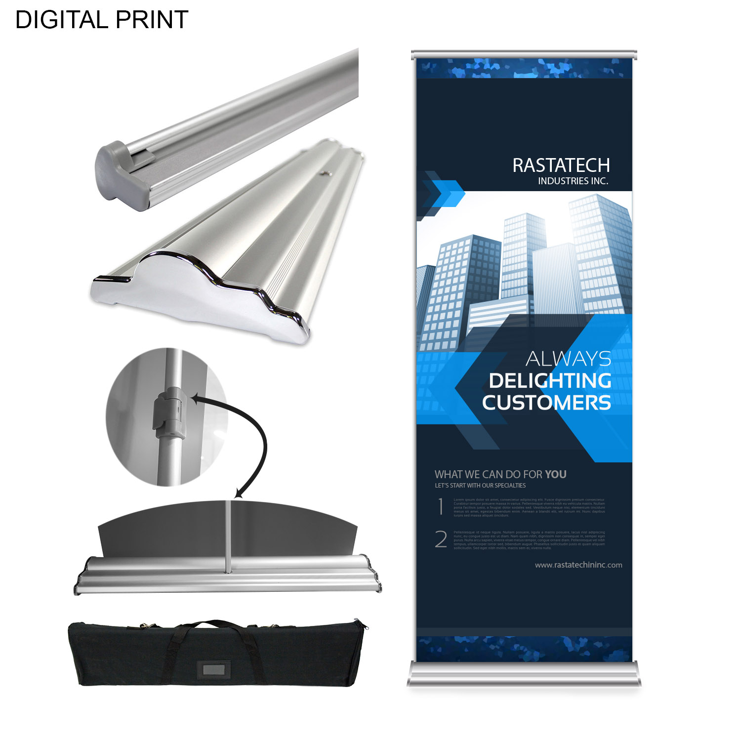 Superior Banner with Stand and Bag, 33.5x90, DP637, Full Colour Imprint