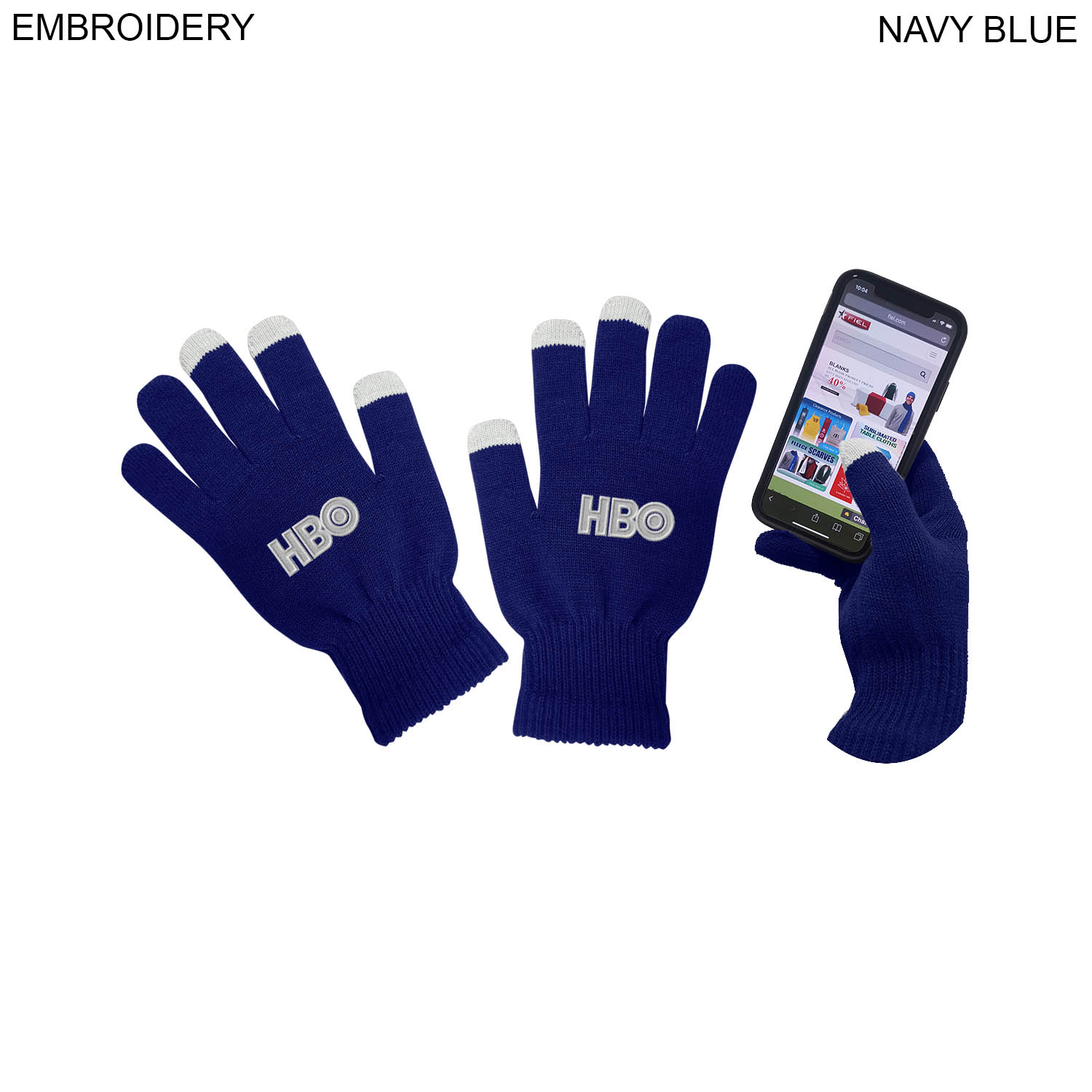 Touch Screen Gloves,  EM588, Embroidered Logo