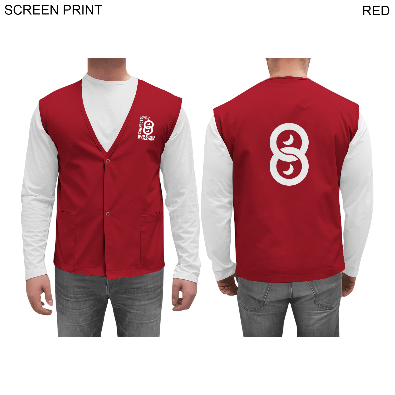 Twill Staff Vest,  PR612, 1 Colour Imprint