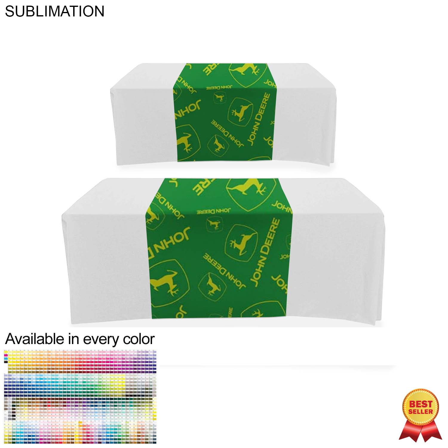 Sublimated Table Runner (Closed Back), 30x90 - Full Colour Imprint (#SU520)