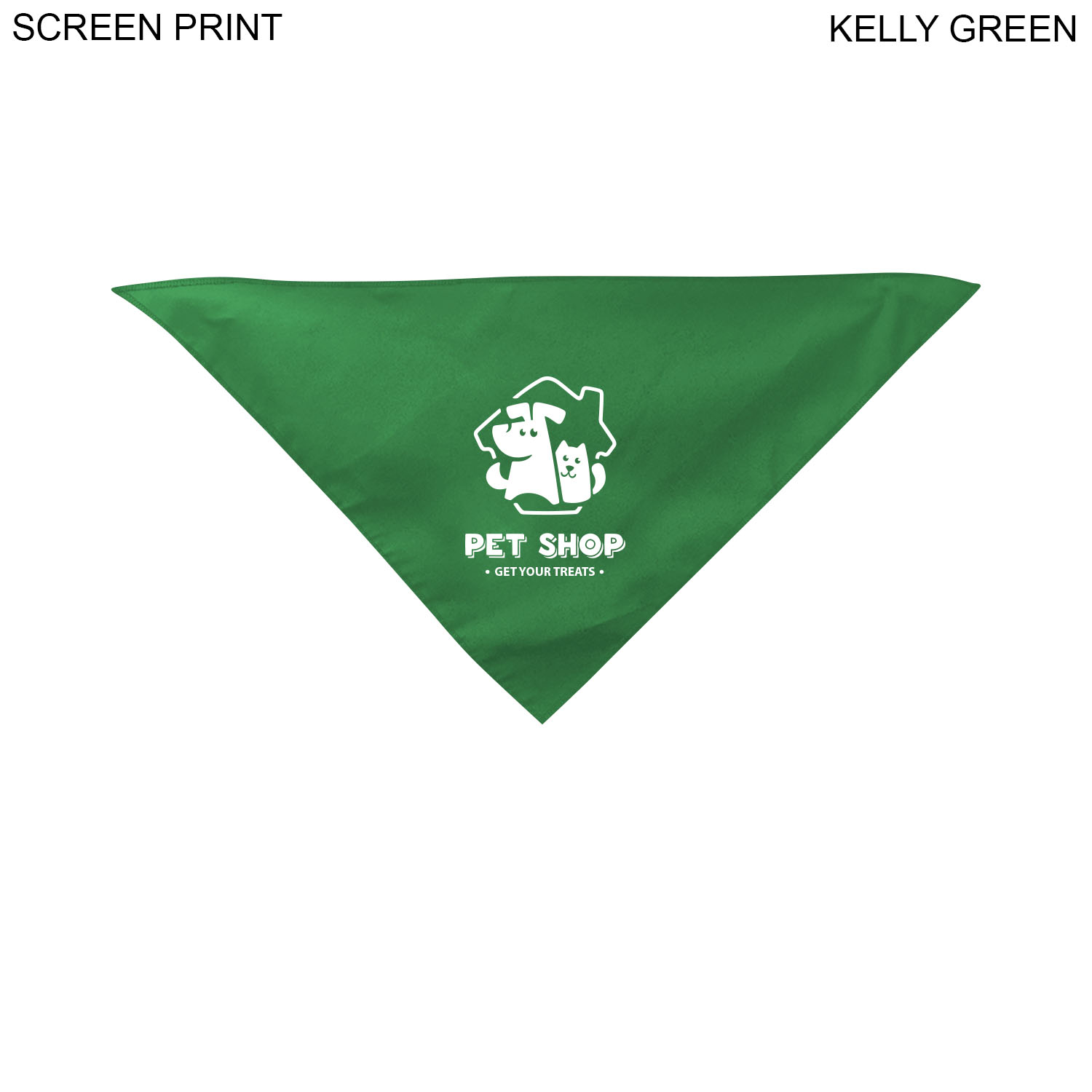 Small Dog Bandana, 14x14x20,  PR624, 1 Colour Imprint