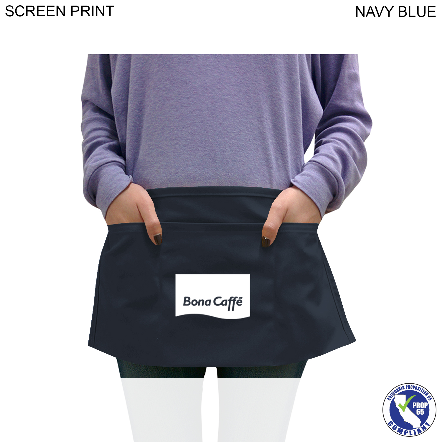 Waist Apron 3 Pockets, 1 Colour Imprint (#PR380)