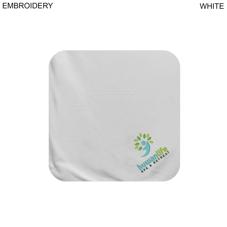 Velour Face Cloth, 12x12,  EM627, Embroidered Logo